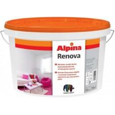 Особо белая высокоукрывистая акрилатная краска Renova Alpina