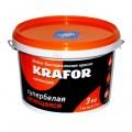 Краска интерьерная моющаяся супербелая водно-дисперсионная латексная KRAFOR