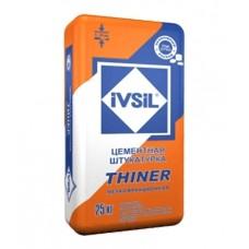 """""""IVSIL THINER"""" финишная цементная штукатурка 25кг"""