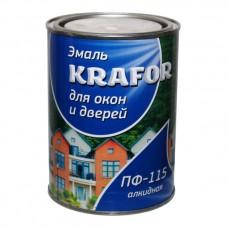 Эмаль для окон и дверей алкидная KRAFOR 0,9кг