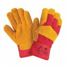 Перчатки  утеплённые, замша с тканью
